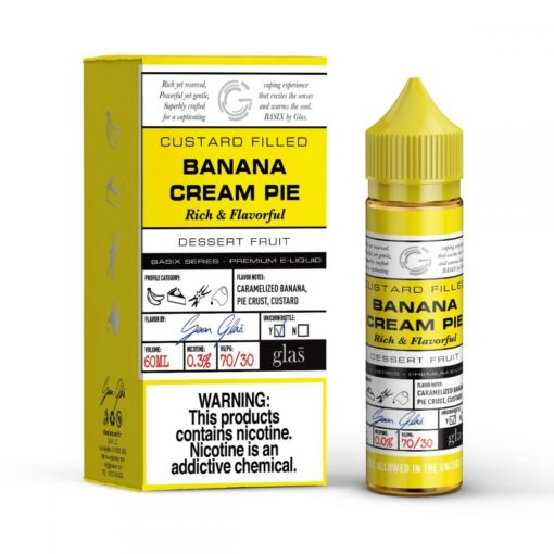 glas basix, banana cream pie vape juice