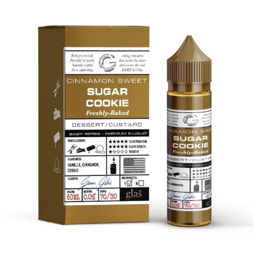glas basix, sugar cookie vape juice