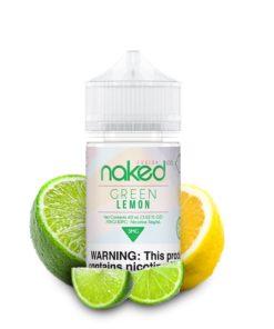 naked 100 fusion, green lemon vape juice