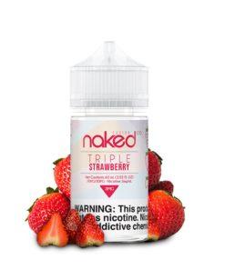 naked 100 fusion, triple strawberry vape juice